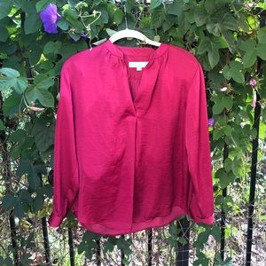 Loft Red Blouse M